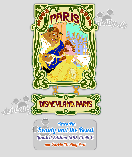 Limitierter Beauty and the Beast Retro Pin