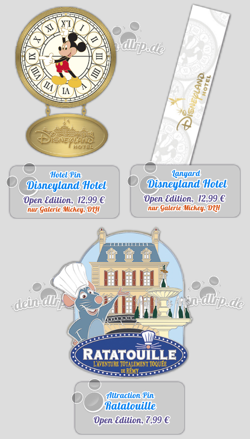 Ratatouille & Disneyland Hotel - die Pins des 11.April