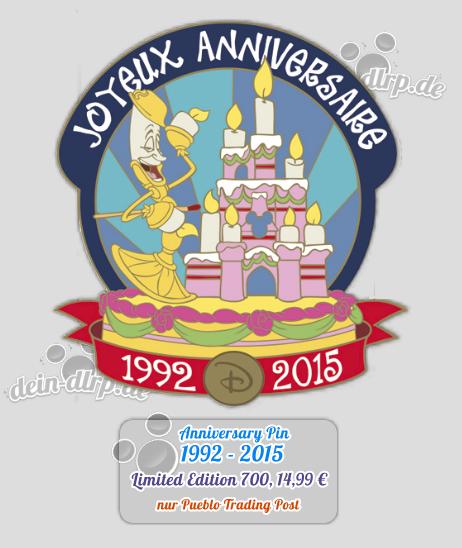 Disneyland Paris Pin zum 23. Geburtstag 1992-2015
