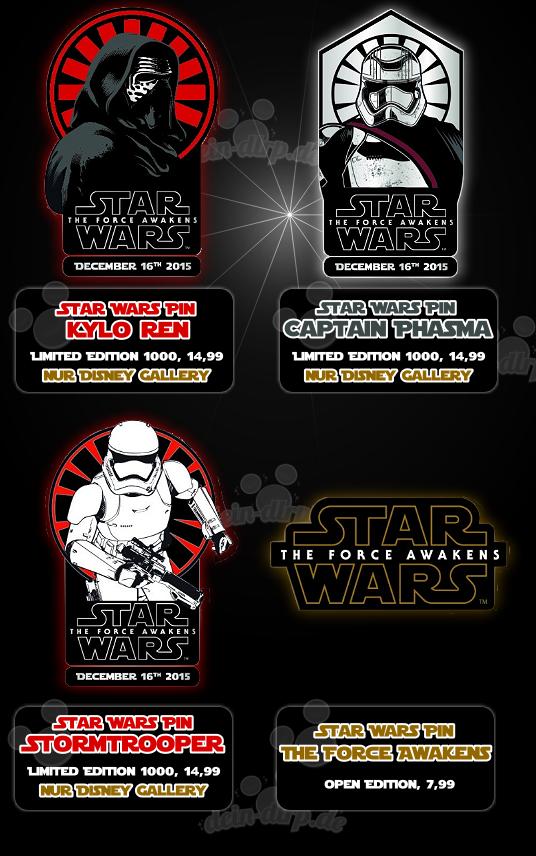 Star Wars steht im Mittelpunkt der Pin-Neuerscheinungen am 16.12. im DLP