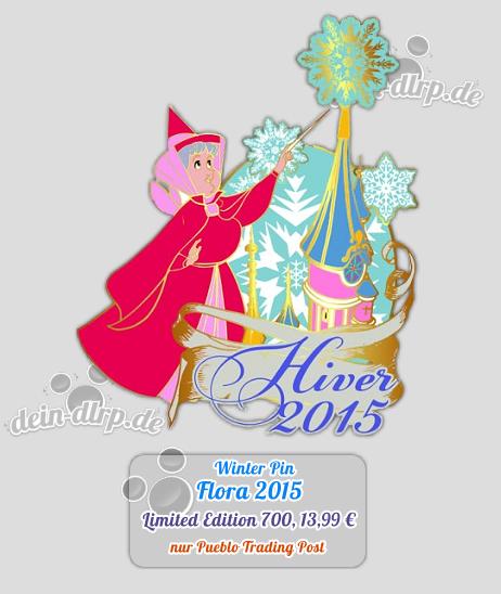 Mit dem Flora Pin, der am 19.12. erscheint leitet das Disneyland Paris den Winter ein