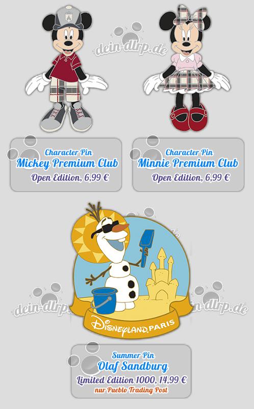Premium Club Mickey & Minnie und ein letzer Sommer-Olaf - die Pins am 12.9.