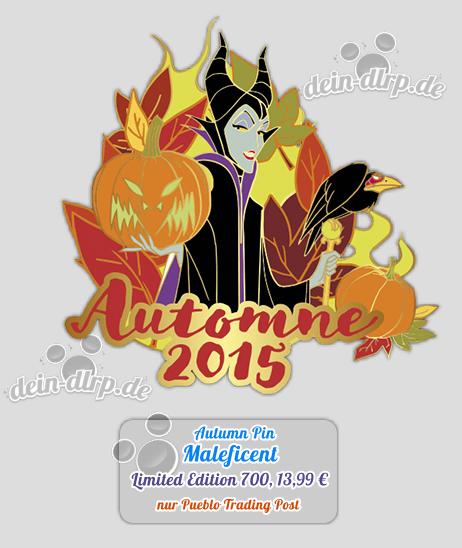 Maleficent Pin zur Einleitung des Herbstes im Disneyland Paris mit Halloween
