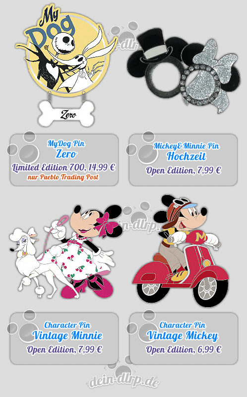 Jack, Mickey & Minnie - die Pins vom 2. April 2016