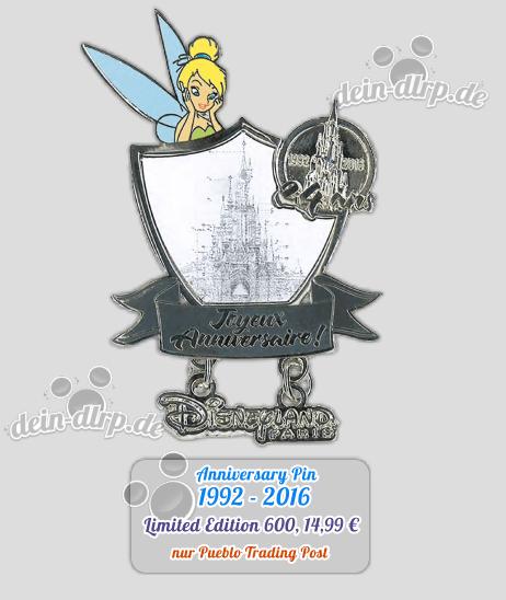 Das Disneyland Paris feiert mit diesem Pin seinen 24. Geburtstag