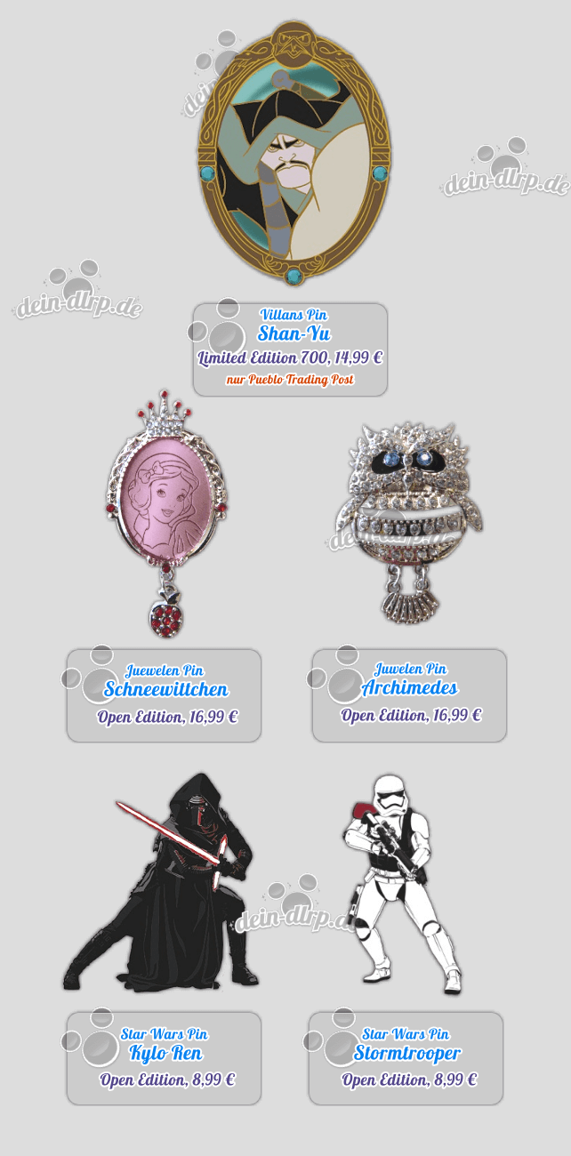 Villains Pin Shan-Yu, Edelsteine und Star Wars Pins