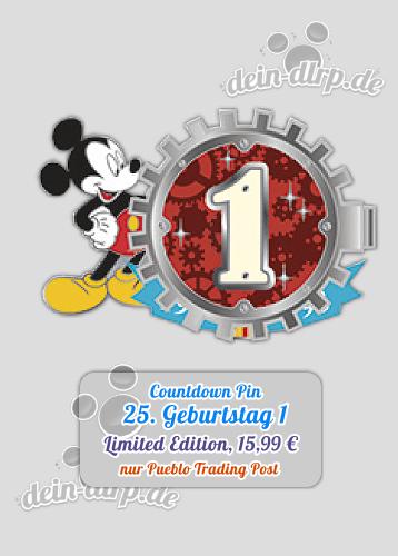Ein Vorbote des 25. Geburtstages: ein limitierter Countdown-Pin
