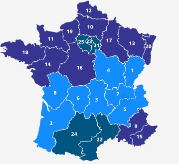 Frankreich Departements Karte.Schulferien In Frankreich Termine Der Schulferien In Frankreich