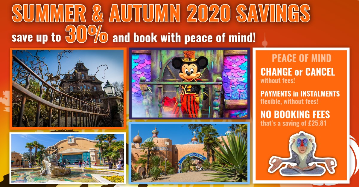Summer & Autumn Offer: Save up to 30% and book Disneyland Paris with peace of mind