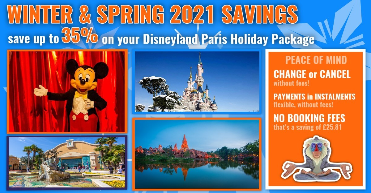 Winter & Spring 2021 special offer: Up to 35% savings