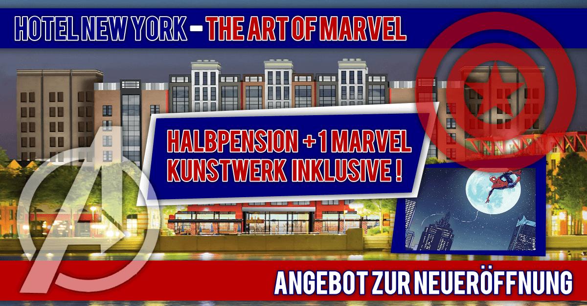 Angebot zur Neueröffnung von Disney's Hotel New York - The Art of Marvel