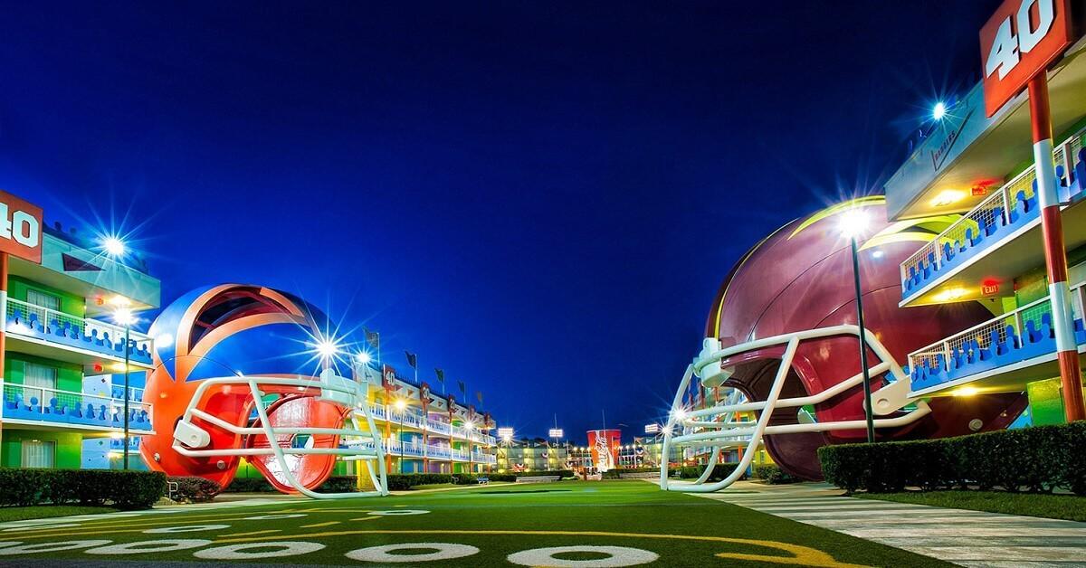 Hotel im Stil eines Footballfelds: Disney's All Star Sports Resort