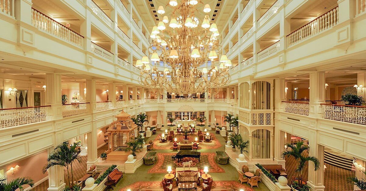 Lobby des Disney Deluxe Resorts Grand Floridian Resort & Spa