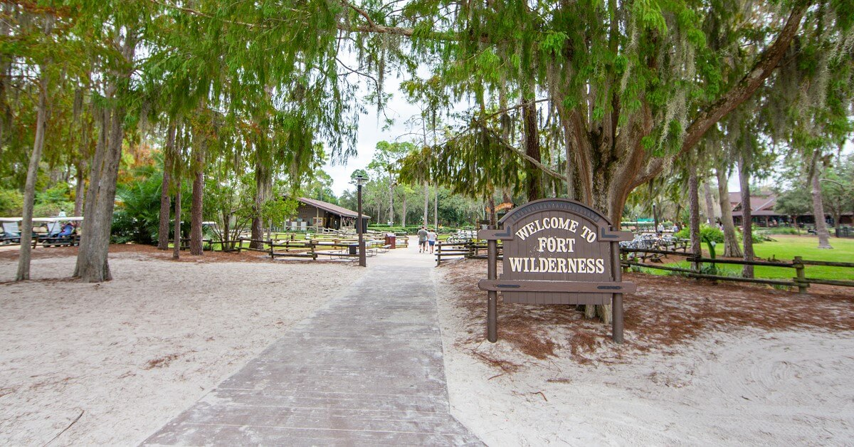 Eingang des Fort Wilderness Resorts