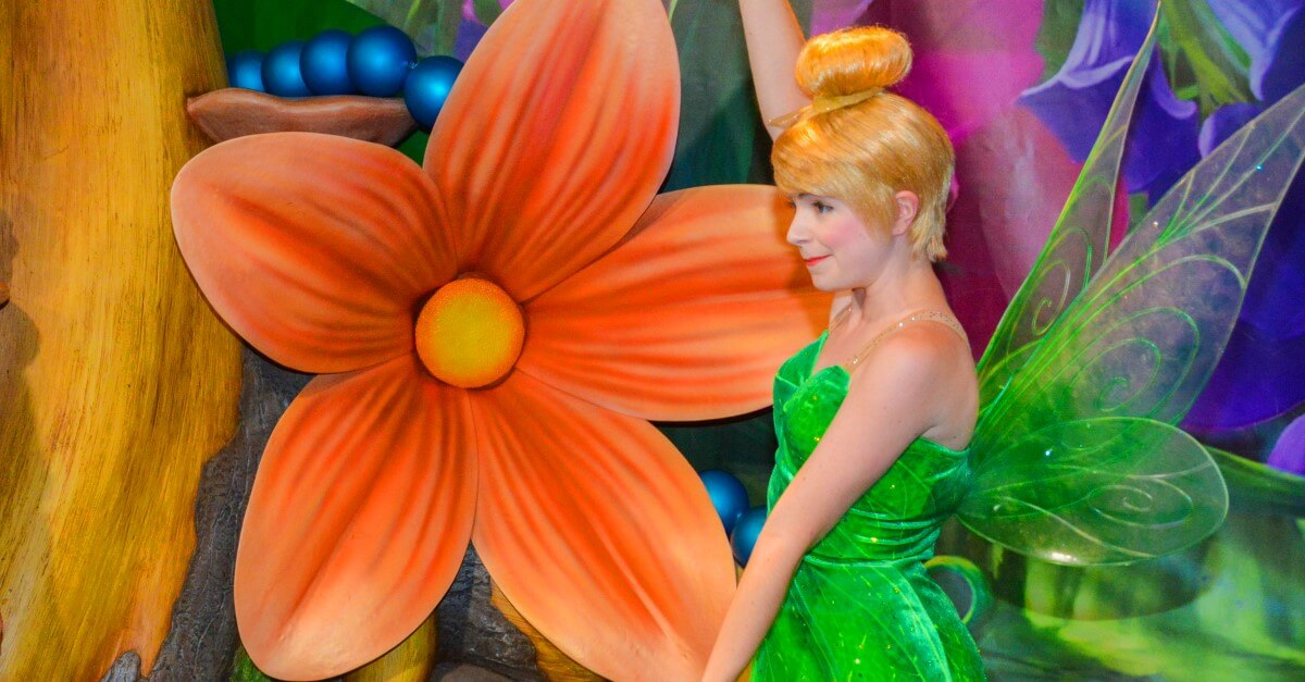 Treffen mit Tinkerbell aus Peter Pan im Magic Kingdom