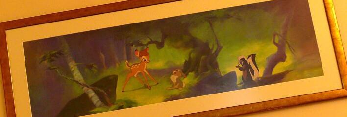 Bambi-Dekoration im Hotel Seqouia Lodge