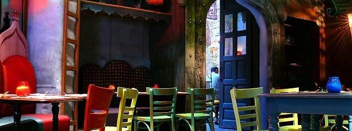 Basar-Atmosphäre im Agrabah Cafe