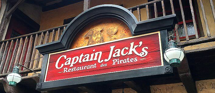 Captain Jack's Restaurant im Disneyland Paris