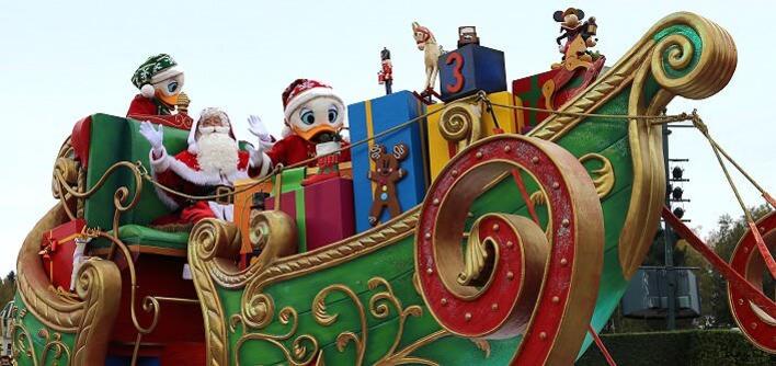 Christmas Cavalcade mit Santa Claus
