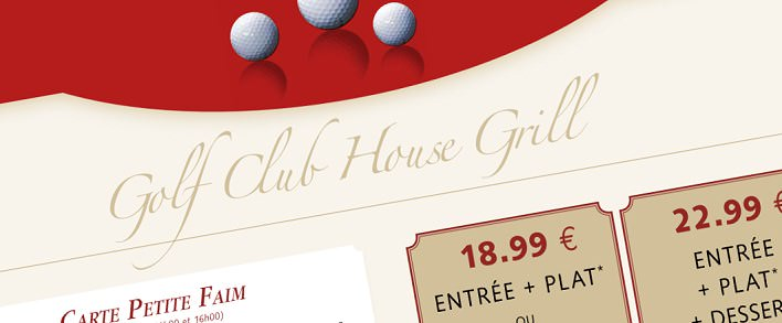 Club House Grill Restaurant am Golfplatz Golf Disneyland