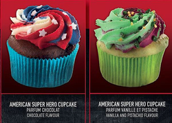 Cupcakes im Marvel Look