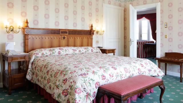 Das Schlafzimmer von Walt's Appartement im Disneyland Hotel
