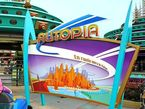 Die Attraktion Autopia im Disneyland Park in Paris