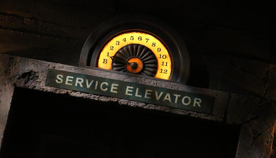 Eingang zum Aufzug des Schreckens bei Tower of Terror - freier Fall in den Walt Disney Studios