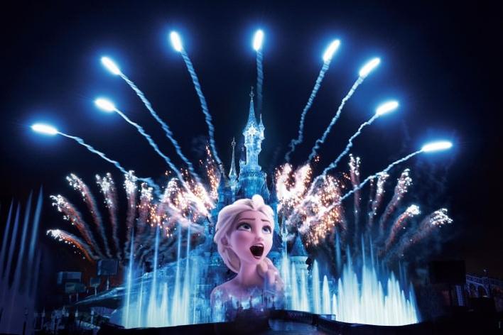 Frozen / Eiskönigin bei der Show Disney Illuminations
