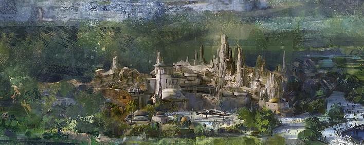 Entwurf für ein Star Wars Land im Disneyland Paris