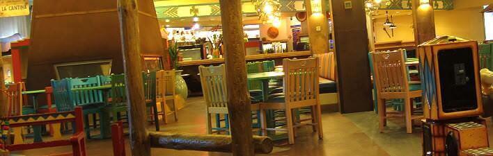 Gastraum im Restaurant La Cantina