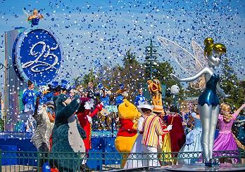 Große Geburtstagsparty am 12. April 2017 im Disneyland Paris