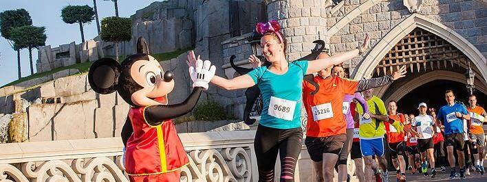Halb-Marathon im Disneyland Paris mit Mickey Mouse und seinen Freunden