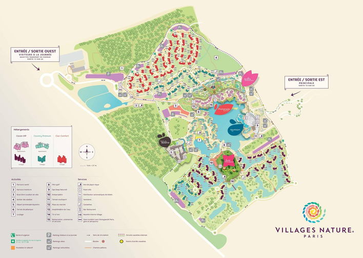 Karte der Villages Nature im Disneyland Paris