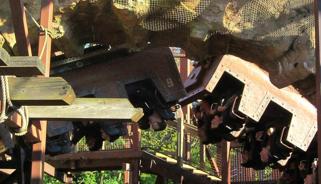 Looping bei Indiana Jones im Adventureland
