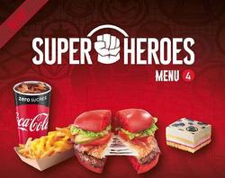 Marvel Helden Fast Food Menü