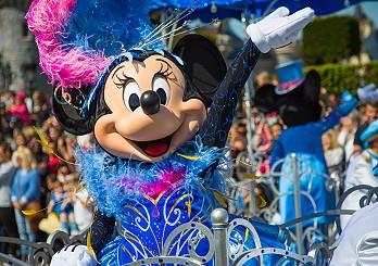 Minnie Mouse beim 25. Geburtstag des Disneyland Paris