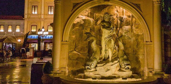 Neptunsbrunnen im italienischen Pavillon in Epcot