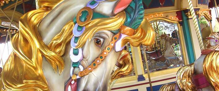 Pferd im Le Carrousel de Lancelot