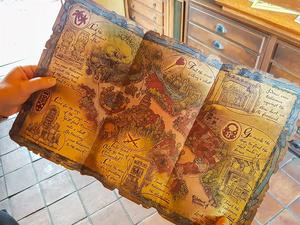 Schatzkarte für das Spiel A Pirate's Adventure