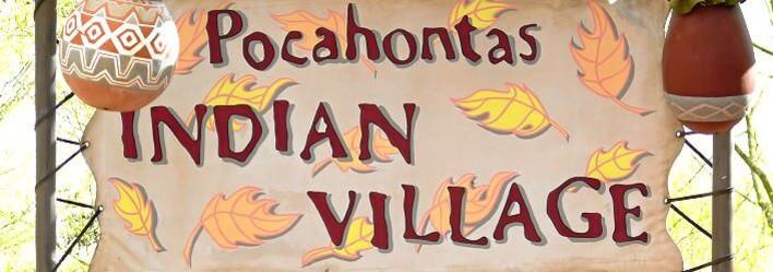 Schild Pocahontas Indian Village