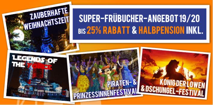 Super Frühbucher-Angebot für Disneyland Paris mit 25% Rabatt und Halbpension inklsuive