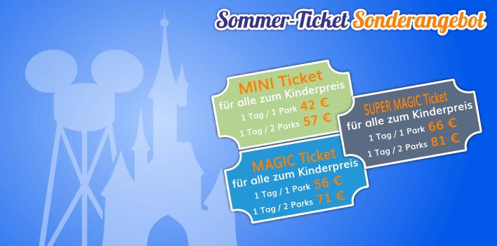 Ticket Sonderangebot für den Sommer 2017 - alle Tickets zum Kinderpreis