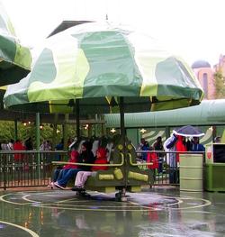 Toy Story Playland im Regen