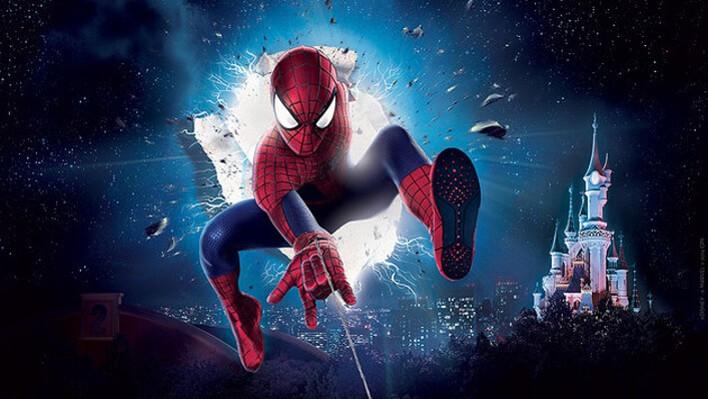 Triff Spider-Man, den Marvel Superhelden, im Disneyland Paris