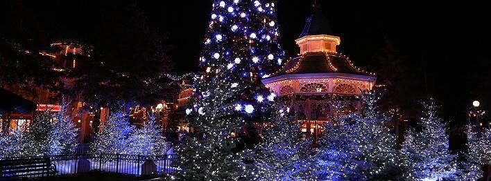 Weihnachtsdeko im Disneyland Paris